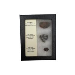 Boite de 3 météorites
